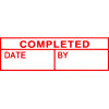 Xstamper Completed/Date/By Red EA