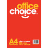 COVER CLEAR RESUME 250 MIC A4 OFFICE CHOICE