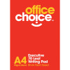 Office Choice Writing Pad - A4 WHITE RULED PKT10  -70LF EXEC