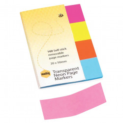 NOTES MARBIG PG MARKER NEON CLEAR 20X50 MARBIG