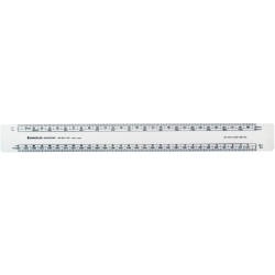 KENT 62M  OVAL SCALE RULERS - 300MM Scale: Front- 1:11:5 1:10 1:1 EA