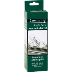 CRYSTALFILE INDICATOR TABS (NEW STYLE) Clear 50PK - ROUND