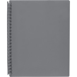 MARBIG A4 REFILLABLE DISPLAY BOOKS Grey