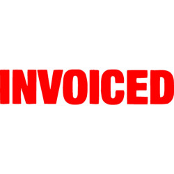 XSTAMPER - 1 COLOUR - TITLES G-O 1532 Invoiced Red EA