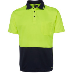 ZIONS HIVIS SAFETY WEAR 2Tone Fluoro Polo Shirt Short Sleeve